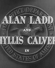 Main title from Appointment with Danger (1950) (2). Alan Ladd and Phyllis Calvert in