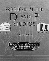 Main title from The Arsenal Stadium Mystery (1939) (10).  Produced at the D and P Studios England.  Western Electric Mirrophonic Sound System
