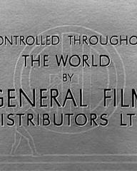 Main title from The Arsenal Stadium Mystery (1939) (11).  Controlled throughout the world by General Film Distributors Ltd