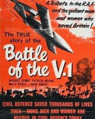 Poster from Battle of the V-1 (1958) (1). 'Civil defence saved thousands of lives then – more men and women are needed in civil defence today'