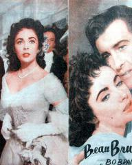Elizabeth Taylor (as Lady Patricia Belham) and Stewart Granger (as George Bryan 'Beau' Brummell) in a Yugoslav poster for Beau Brummell (1954) (1)