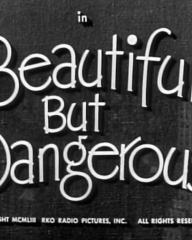Main title from Beautiful But Dangerous (1954)