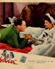 Lobby card from Bedelia (1946) (3) featuring Ian Hunter and Margaret Lockwood. #2 of 8
