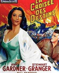 Ava Gardner (as Victoria Jones) in a French poster for Bhowani Junction (1956) (1)
