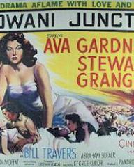 Ava Gardner (as Victoria Jones) in a poster for Bhowani Junction (1956) (2)