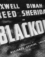 Main title from Blackout (1950) (4). Maxwell Reed, Dinah Sheridan in Blackout