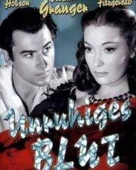 Stewart Granger (as Philip Thorn) and Valerie Hobson (as Blanche Fury) in a German DVD cover of Blanche Fury (1948) (1)