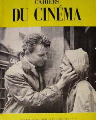 Cahiers du Cinéma magazine with Gerard Philipe and  Joan Greenwood in Knave of Hearts.  1954, issue number 35.  (French)