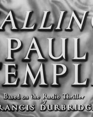 Main title from Calling Paul Temple (1948) (3).  Based on the radio thriller by Francis Durbridge