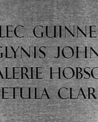 Main title from The Card (1952) (4). Alec Guinness, Glynis Johns, Valerie Hobson, Petula Clark