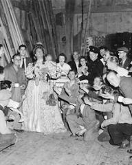 Sid Field at a party held to mark the end of production of Cardboard Cavalier
