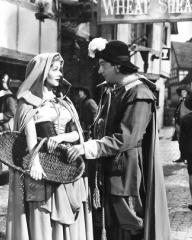 Margaret Lockwood (as Nell Gwynne) and Sid Field (as Sidcup Buttermeadow) in a photograph from Cardboard Cavalier (1949) (29)
