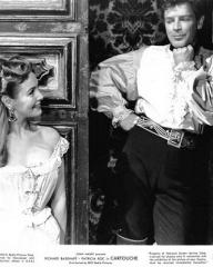 Patricia Roc (as Donna Violante) and Richard Basehart (as Jacques de Maudy) in a photograph from Cartouche (1954) (1)