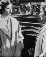 Margaret Lockwood (as Freda Jeffries) and Kay Walsh (as Charlotte Young) in a photograph from Cast a Dark Shadow (1955) (18)