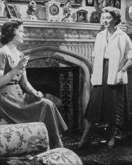 Margaret Lockwood (as Freda Jeffries) and Kay Walsh (as Charlotte Young) in a photograph from Cast a Dark Shadow (1955) (34)