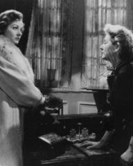 Margaret Lockwood (as Freda Jeffries) and Kay Walsh (as Charlotte Young) in a photograph from Cast a Dark Shadow (1955) (37)