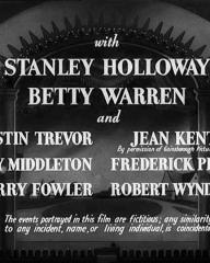 Main title from Champagne Charlie (1944) (5).  With Stanley Holloway Betty Warren, Austin Trevor, Jean Kent, Guy Middleton, Frederick Piper, Harry Fowler, Robert Wyndham