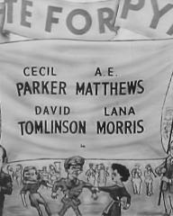 Main title from The Chiltern Hundreds (1949) (3). Cecil Parker, A E Matthews, David Tomlinson, Lana Morris in