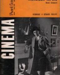 Cinema magazine with Gérard Philipe in Knave of Hearts.  (French).  Monsieur Ripois.
