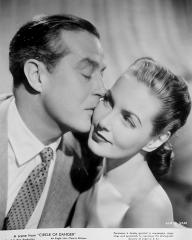 Ray Milland (as Clay Douglas) and Patricia Roc (as Elspeth Graham) in a photograph from Circle of Danger (1951) (1)