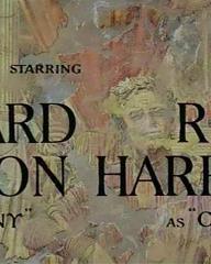 Main title from Cleopatra (1963) (4). Richard Burton as Antony, , Rex Harrison as Caesar