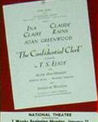Programme from The Confidential Clerk (1954) at the National Theatre, London (1)