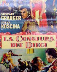Italian poster for La Congiura dei Dieci [Swordsman of Siena] (1962) (1)