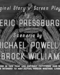 Main title from Contraband (1940) (5). Original story and screen play by Emeric Pressburger. Scenario by Michael Powell and Brock Williams