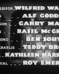 Main title from Convict 99 (1938) (8).  Wilfred Walter Alf Goddard, Garry Marsh, Basil Mcgrail, Ben Soutten, Teddy Brown, Kathleen Harrison, Roy Emerton