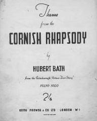 Sheet music from the 1944 film, Love Story (Cornish Rhapsody), by Hubert Bath
