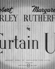 Main title from Curtain Up (1952) (3). Robert Morley Margaret Rutherford in 'Curtain Up'