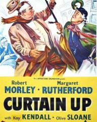 Poster from Curtain Up (1952) (1).  Fun Behind the Footlights!