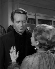 Patrick McGoohan and Joan Greenwood (as Nandina) in a photograph from Danger Man (1960-62) (10)