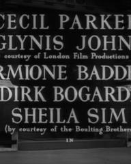 Main title from Dear Mr Prohack (1949) (3). Cecil Parker, Glynis Johns, Hermione Baddeley, Dirk Bogarde, Sheila Sim