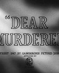 Main title from Dear Murderer (1947) (4)