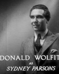 Main title from Death at Broadcasting House (1934) (11). Donald Wolfit as Sydney Parsons