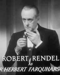 Main title from Death at Broadcasting House (1934) (12). Robert Rendel as Sir Herbert Farquharson