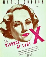 Poster for The Divorce of Lady X (1938) (2)