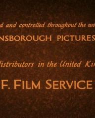 Main title from Downhill (1927) (4).  Owned and controlled througout the world by Gainsborough Pictures Ltd.  Sole distributors in the United Kingdom W & F Film Service, Ltd