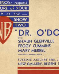 Cinema ticket for Dr O'Dowd (1940) at the New Gallery, Regent Street, London