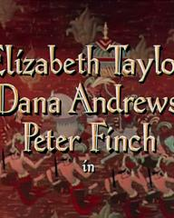 Main title from Elephant Walk (1953) (2). Elizabeth Taylor, Dana Andrews, Peter Finch in