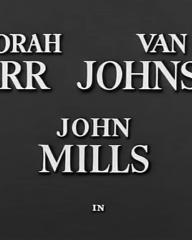 Main title from The End of the Affair (1955) (2). Deborah Kerr Van Johnson, John Mills in