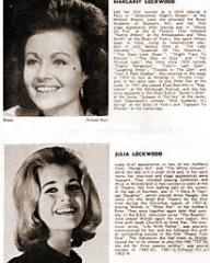Margaret Lockwood and Julia Lockwood in a programme from Every Other Evening! (1964) at the Phoenix Theatre, London (2)