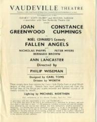 Programme from Fallen Angels (1967) at the Vaudeville Theatre, London (2)