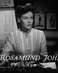 Main title from Fame Is the Spur (1947) (6).  Rosamund John as Ann.