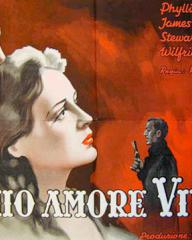 Stewart Granger (as Harry Somerford) and Phyllis Calvert (as Fanny Hooper) in an Italian poster for Fanny by Gaslight (1944) (3)