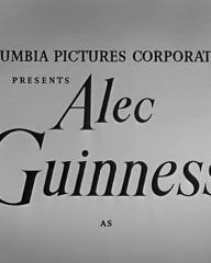 Opening credits from Father Brown (1954) (2). Columbia Pictures Corporation presents Alec Guinness as
