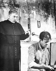 Alec Guinness (as Father Brown) in a photograph from Father Brown (1954) (12)