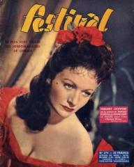 Festival magazine with Margaret Lockwood in Laughing Anne.  1954, issue number 279.  (French)