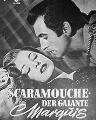 Illustrierte Film Bühne magazine with Eleanor Parker and  Stewart Granger in Scaramouche.  Issue number 1806.  (German).  Scaramouche – Der Galante Marquis.